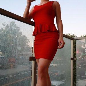 Zara XS Red Mini dress